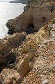 Algar Seco в Алгарве в Португалии — Стоковое фото