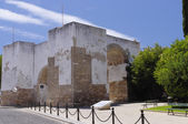 The walls of old city in Faro, Algarve Capital, Portugal — Stock Photo