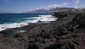 Rocky coast of Fuerteventura at Jandia, close to La Pared — Stock Photo