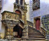 Po schodach ratusza - goerlitz, niemcy — Zdjęcie stockowe