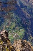 The mountain valley of the Madeira island , Portugal — Stock Photo
