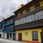 Colorful townhouses in the center of Santa Cruz de La Palma island, Canary, Spain — Stock Photo #46470545