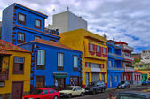 Colorful townhouses in the center of Tazacorte La Palma, Canary island, Spain — Stock Photo