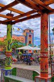 Central square in Tazacorte town, La Palma island, Canary, Spain — Foto Stock
