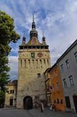Sighisoara - the town where Vlad Tepes-Draculea was born. Transylvania, Romania — Stock Photo