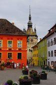 Sighisoara - the town where Vlad Tepes-Draculea was born. Transylvania, Romania — Stock Photo