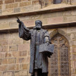 Johannes Honterus Statue in Brasov, Romania. He was a renaissance humanist, theologian and the main Lutheran reformer in Transylvania. — Stock Photo #51390233