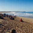 Stock Photo: PENICHE, PORTUGAL - OCTOBER 13 : View of beach of Supertubos in Rip Curl Pro 2012 - Men Round 1 October 13, 2012 in Peniche, Portugal