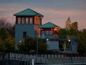 Syracuse inner harbor — Stock Photo