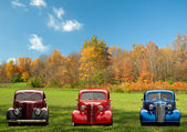 Colorful classic cars — Stock Photo