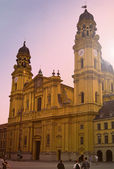 Theatiener church, munich,germany — Stockfoto