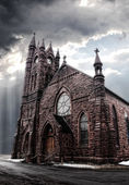 Gothic -style church — Stock Photo