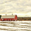 Barn in winter — Stock fotografie