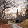 Road to a church — Stock Photo