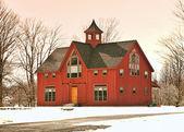 Casa no inverno — Foto Stock