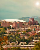 View of syracuse vertical — Stock Photo