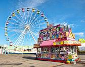 Amusement park midway — Stock Photo