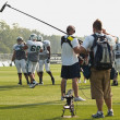 Stock Photo: Filming NY Jets training camp