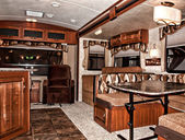 Recreational vehicle interior — Stock Photo