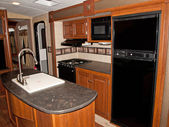 Recreational vehicle interior — Stock Photo