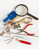 Watch repair supplies — Stock Photo