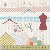 缝纫组. — 图库矢量图片