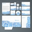 Stationery set with gears — Stock Vector #12405124