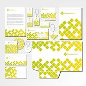 Vector stationery set with abstract pattern — Stock Vector