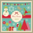 Stock Vector: Cute Christmas card