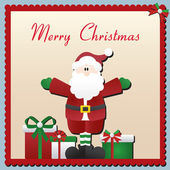 Santa Claus Christmas Card — Stock Vector