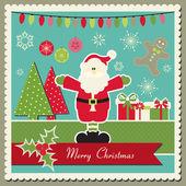 Christmas card with Santa Claus — Stock Vector