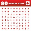 80 Medical icons — Stock Vector #27675315