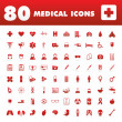Stock Vector: 80 Medical icons