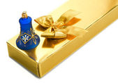 Gift box with bell — Stock Photo