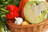 Basket with vegetable - 3 — Stock Photo