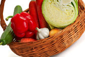 Basket with vegetable - 2 — Stock Photo