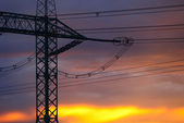 Silhouette of pylon — Stock Photo