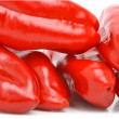 Fresh red bell peppers — Foto Stock