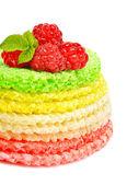 Wafel ciasto z malinami — Zdjęcie stockowe