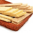 Stock Photo: Dry loaves in basket
