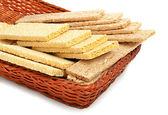 Panes secos en la cesta — Foto de Stock