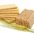 Stock Photo: Dry loaves and ears of wheat
