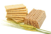 Dry loaves and ears of wheat — Stock Photo