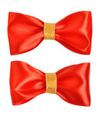 Red gift bows — Foto Stock
