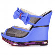Violet platform shoes - Stock Photo