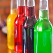 Bottles of cocktail on the bar — Stock Photo