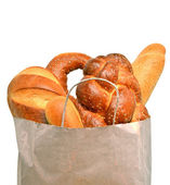 Fresh bread in the paper bag — Stock Photo