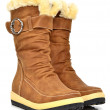 Fashion winter boots on the white background — Stock Photo