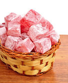 Turkish sweet delights in the basket — Stock Photo