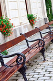 Bench in the street — Stock Photo